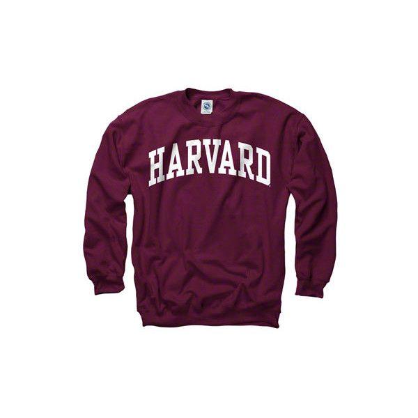 Harvard Crimson Maroon Arch Crewneck Sweatshirt ($28) ❤ liked on Polyvore featuring tops, hoodies, sweatshirts, sweaters, shirts, purple top, crew-neck tops, maroon crew neck sweatshirt, maroon sweatshirt and maroon top