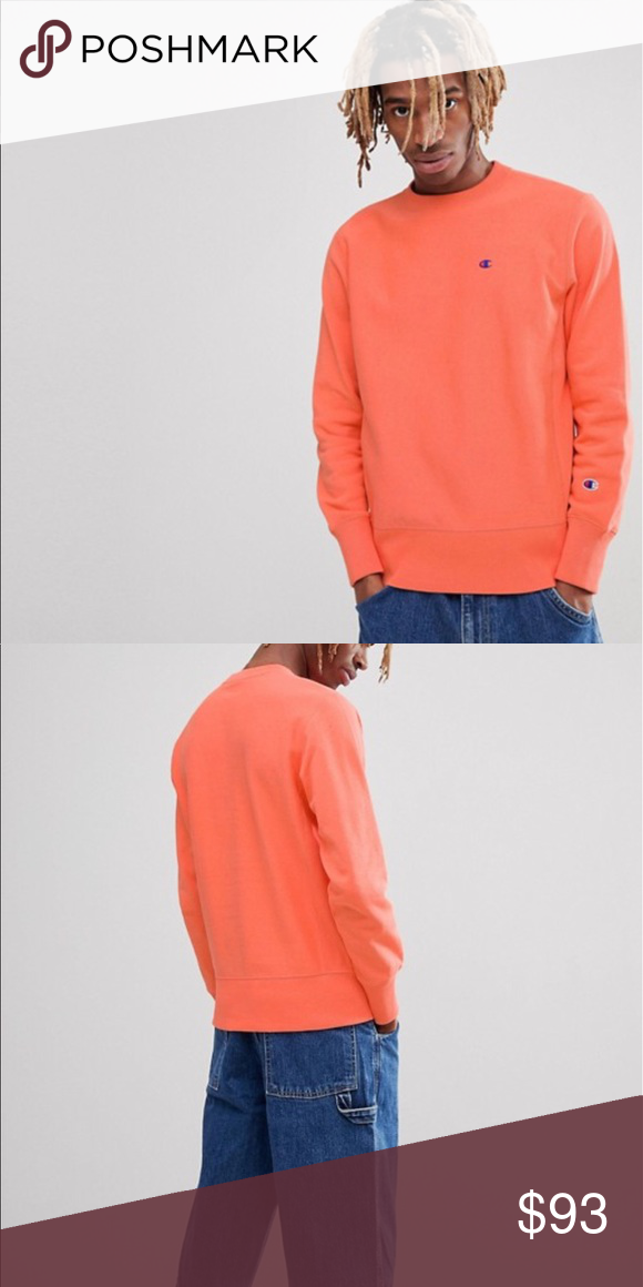 e00bd1b48588 Champion sweatshirt in coral. Brand new and in excellent condition. Champion  Shirts Sweatshirts & Hoodies