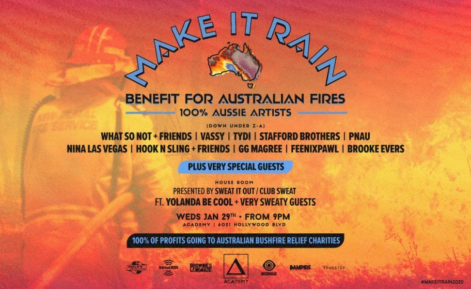Aussie Artists Band Together for 'Make It Rain A Benefit