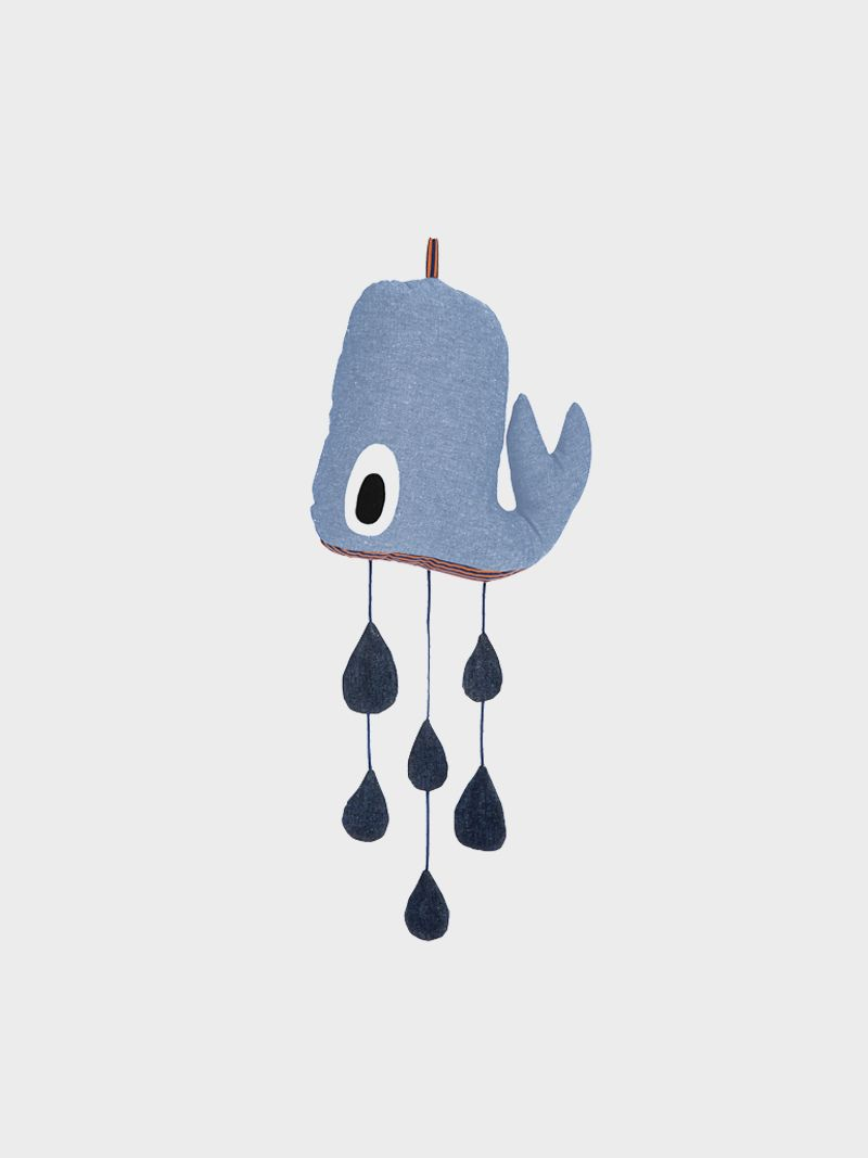 Toys for kids logo  Whale Mobile  entertainment for your kids  Danish Design made with