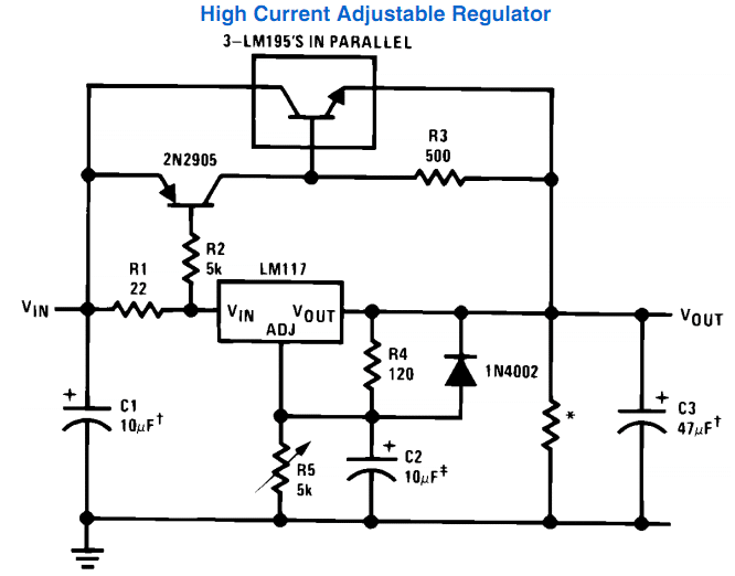 high current LM317 power supply circuit   Fuente de ... on