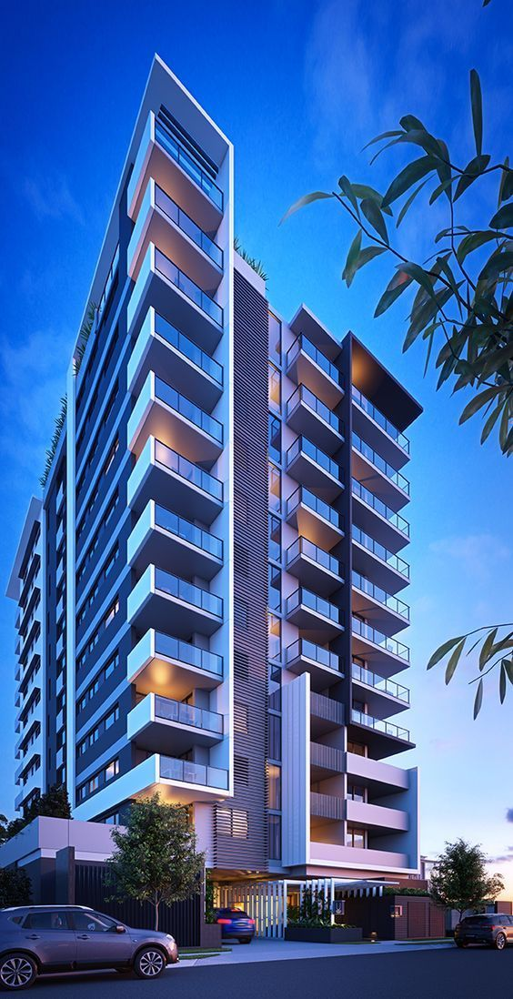 Hotel Architecture, Futuristic Architecture, Outdoor Balcony, Balcony  Ideas, Brisbane Queensland, Modern Apartments, Building Facade, Building  Elevation, ...