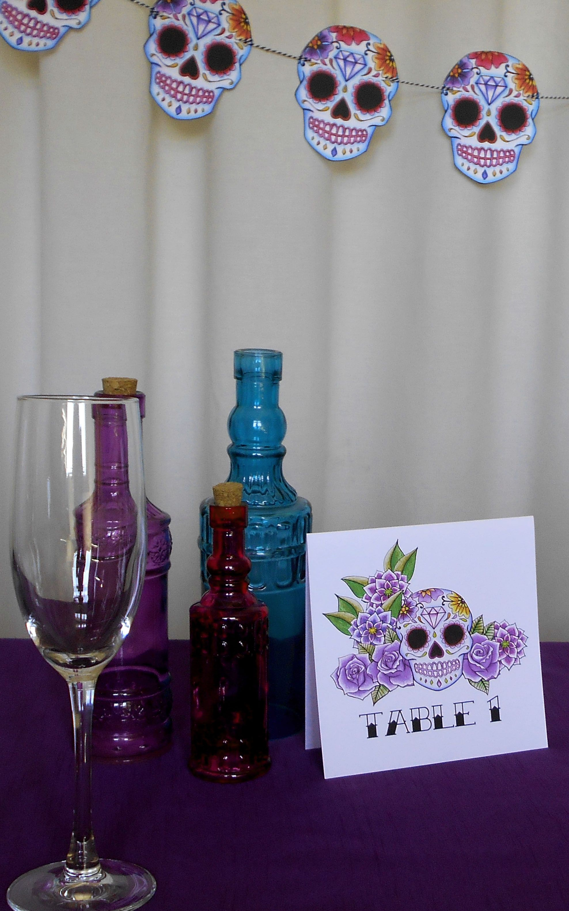 sugar skull day of the dead themed wedding decorations | Sugar Skull ...