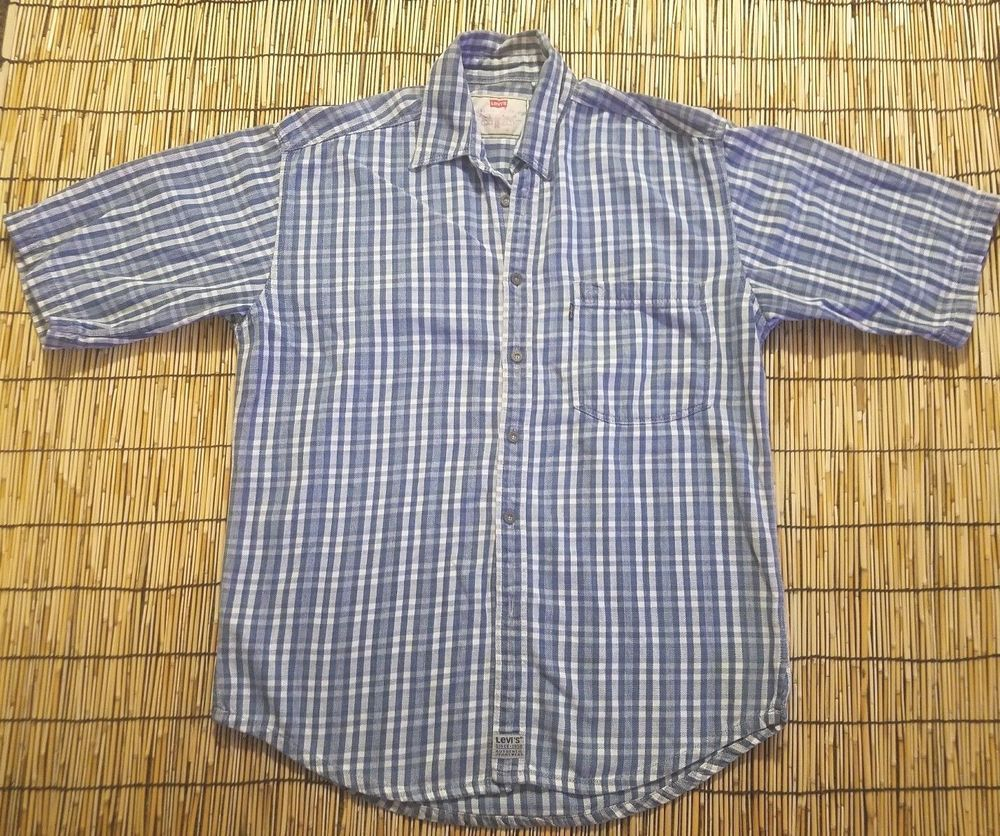 Flannel shirts 1990s  Menus Vintage us Red Tab Levius Western Checkered Plaid Grunge