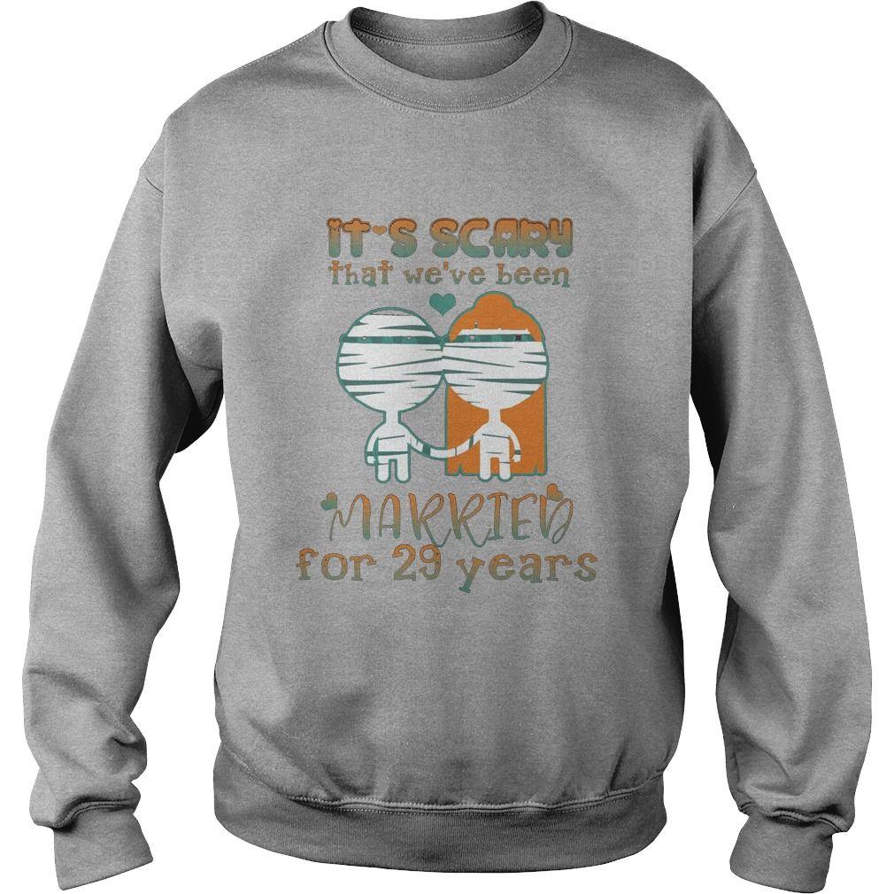 Halloween Shirt For Husbandwife On 29th Wedding Anniversary Gift