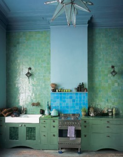 Agnes Emery Tiled Kitchen Marrakech Moroccan Kitchen