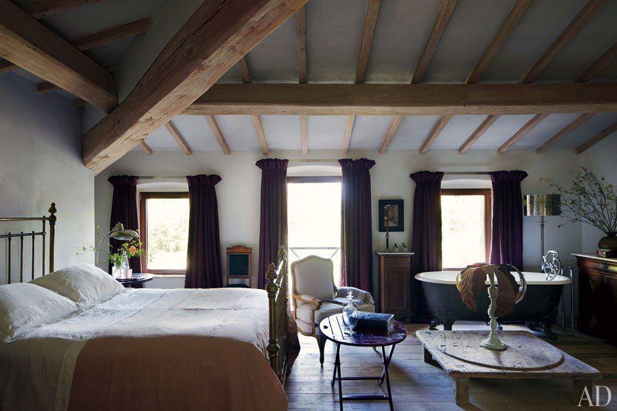 une maison au charme rustique en italie - Chambre Rustique Chic