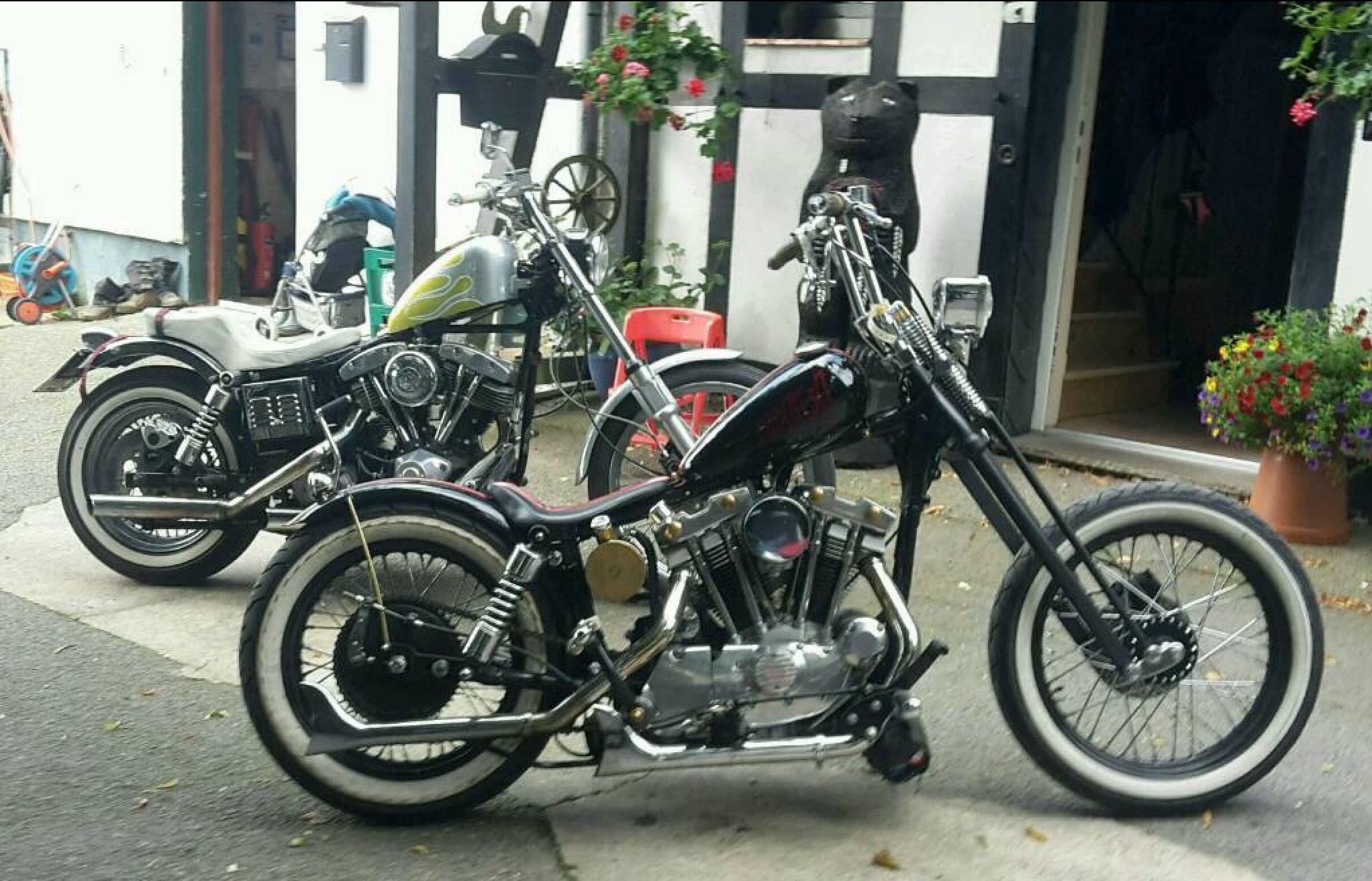 Harley Davidson Ironhead Sportster and Shovelhead FX Chopper Shovel
