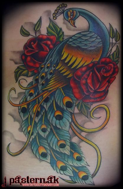Peacock feather drawing tattoo - photo#50