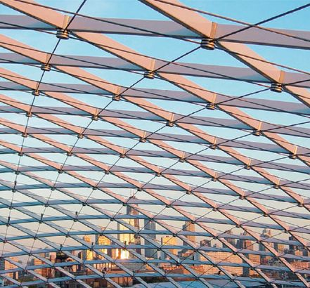 Grid shell skylight structure | ARCHITECTURE | Roof ...