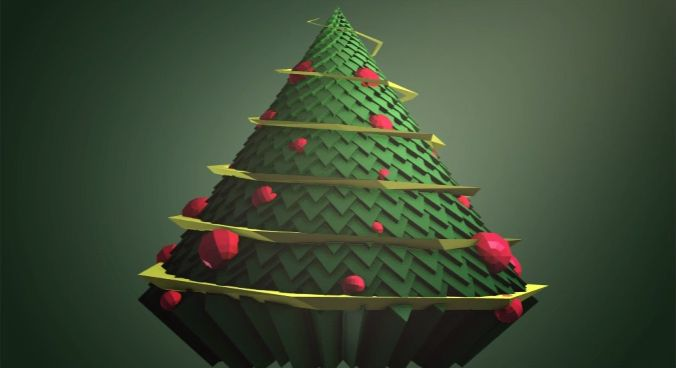 After Effects Low Poly Style Cupcake Christmas Tree With Trapcode Tao Tutorial Animated Christmas Tree Animated Christmas Christmas