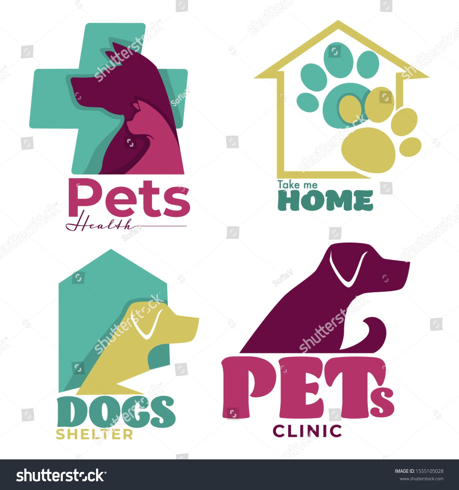 Pets Health Take Me Home Animal Shelter And Veterinary Clinic Logo Rescue Dog Cat Silhouette Above Medical Cross Pa Shelter Dogs Cat Silhouette Clinic Logo