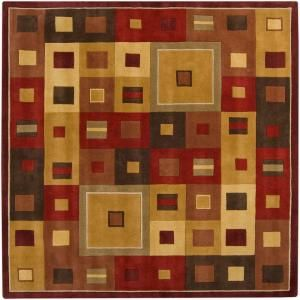 Artistic Weavers Michael Burgundy 4 Ft Square Area Rug Mcl 7014 At The Home Depot