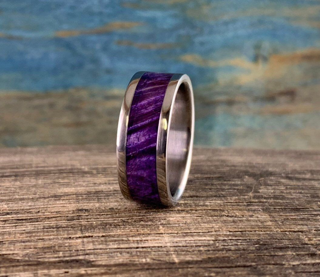 Pin By Phi Dao On Esty In 2019 Titanium Wedding Rings Cool