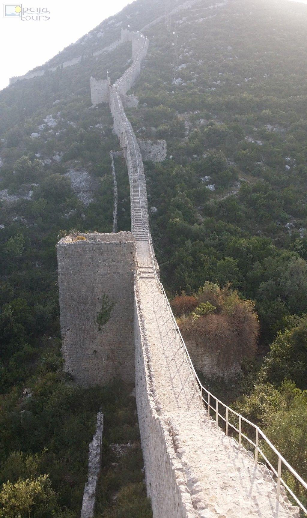 Longest Stone Wall In Europe Ston Croatia Kroatie Vakantie