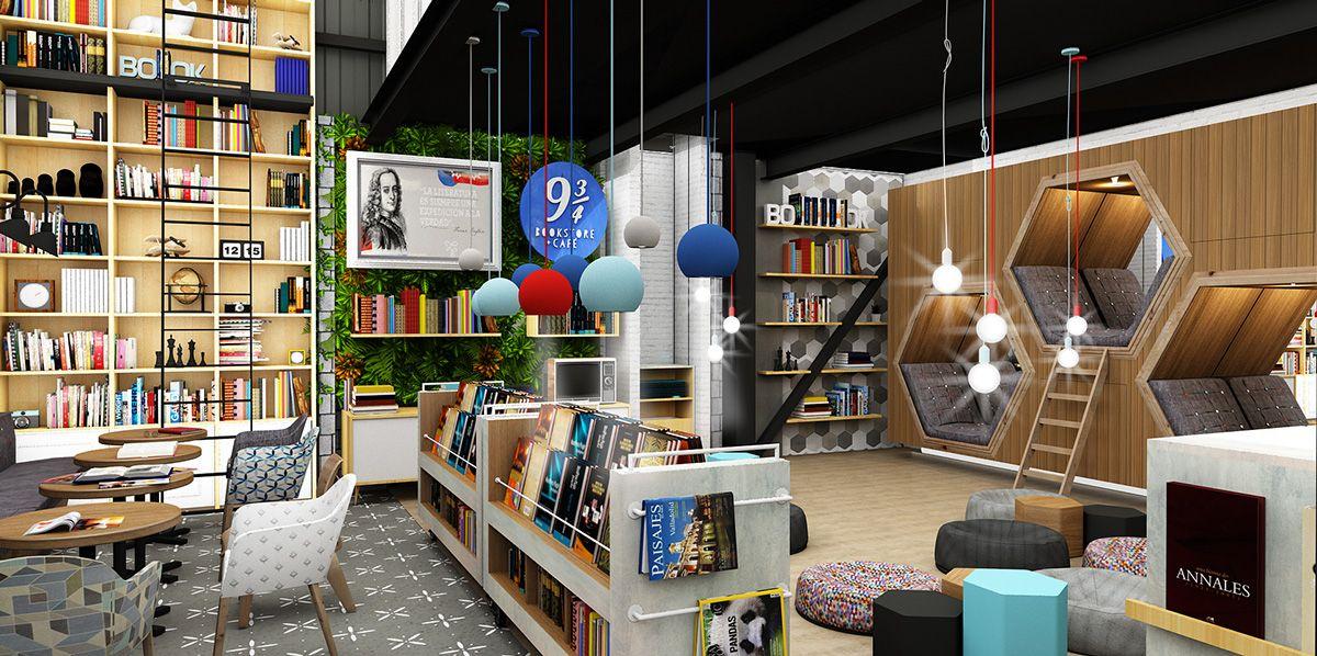 Cafe mit buchladen innendesign bilder  Resultado de imagen para cafe libreria | Decoración para el café ...