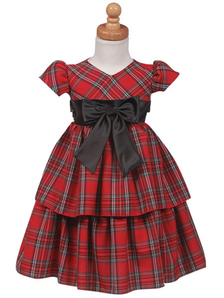 Red Plaid Little Girls Holiday Dresses | For the girls, girls ...