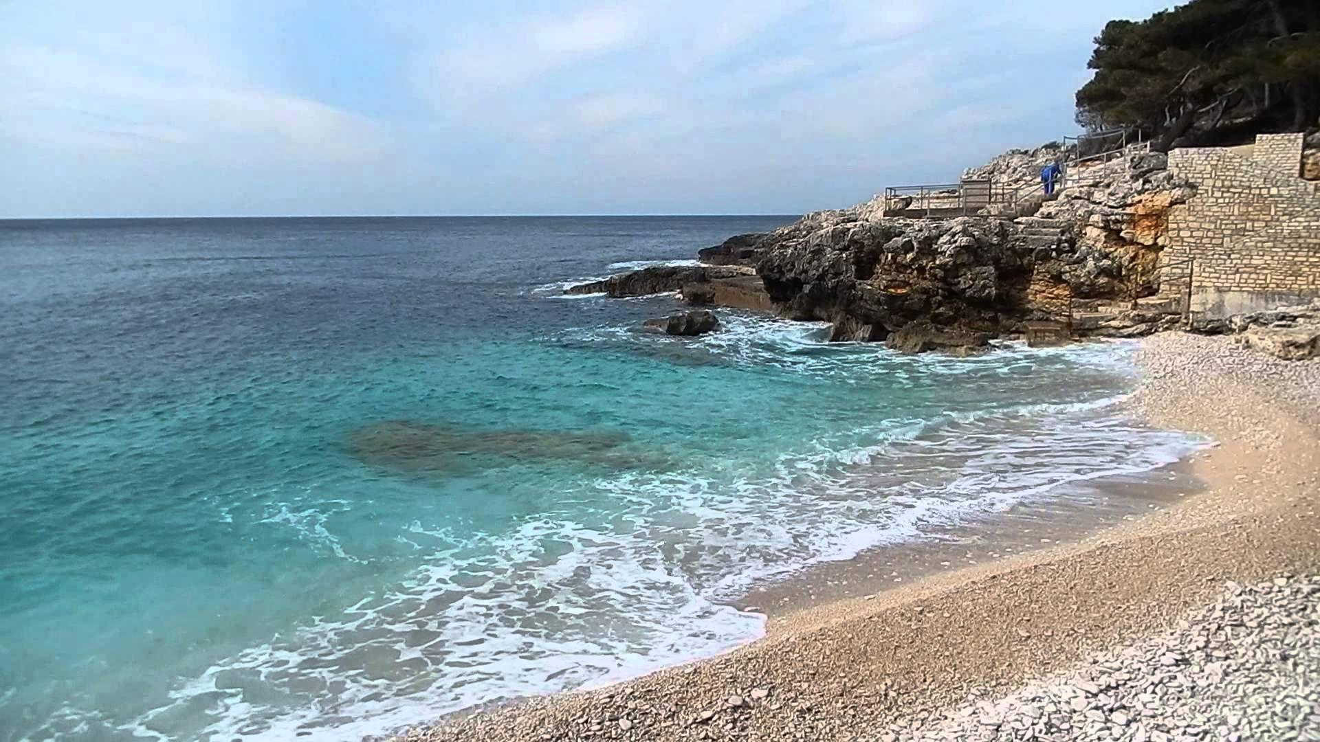 Der 'Havajka' Strand in Pula heute www.inistrien.hr Pula