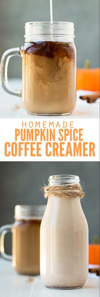Homemade Pumpkin Spice Coffee Creamer #frenchvanillacreamerrecipe