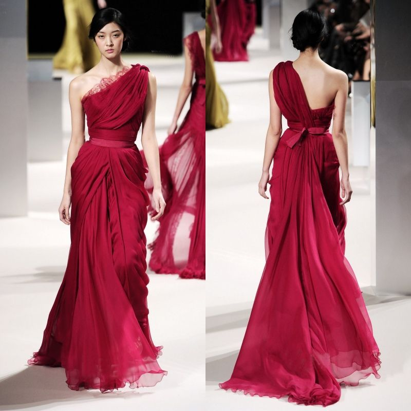 Long One Shoulder Elie Saab Evening Dress
