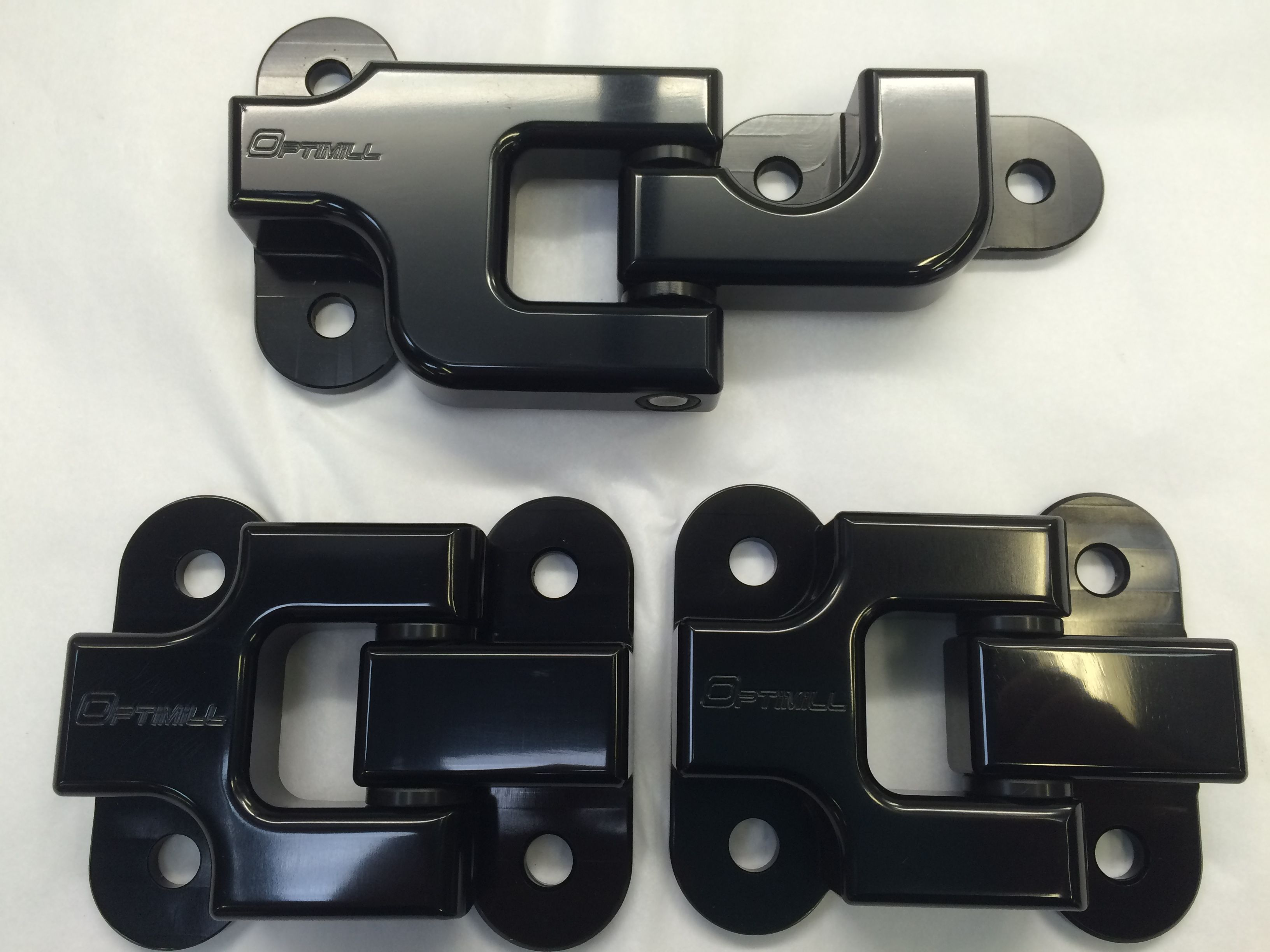 Landrover Defender Rear Door Hinges Set Of 3 In Black