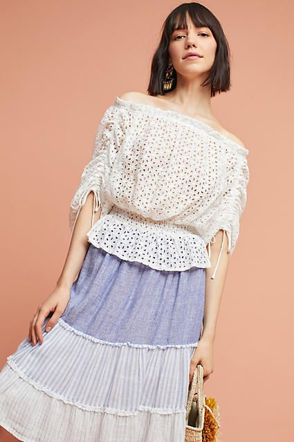 ca09b763d456 Harlyn Corfu Lace Pullover, affiliate link Corfu, Sleeve Styles,  Anthropologie, Blouses For
