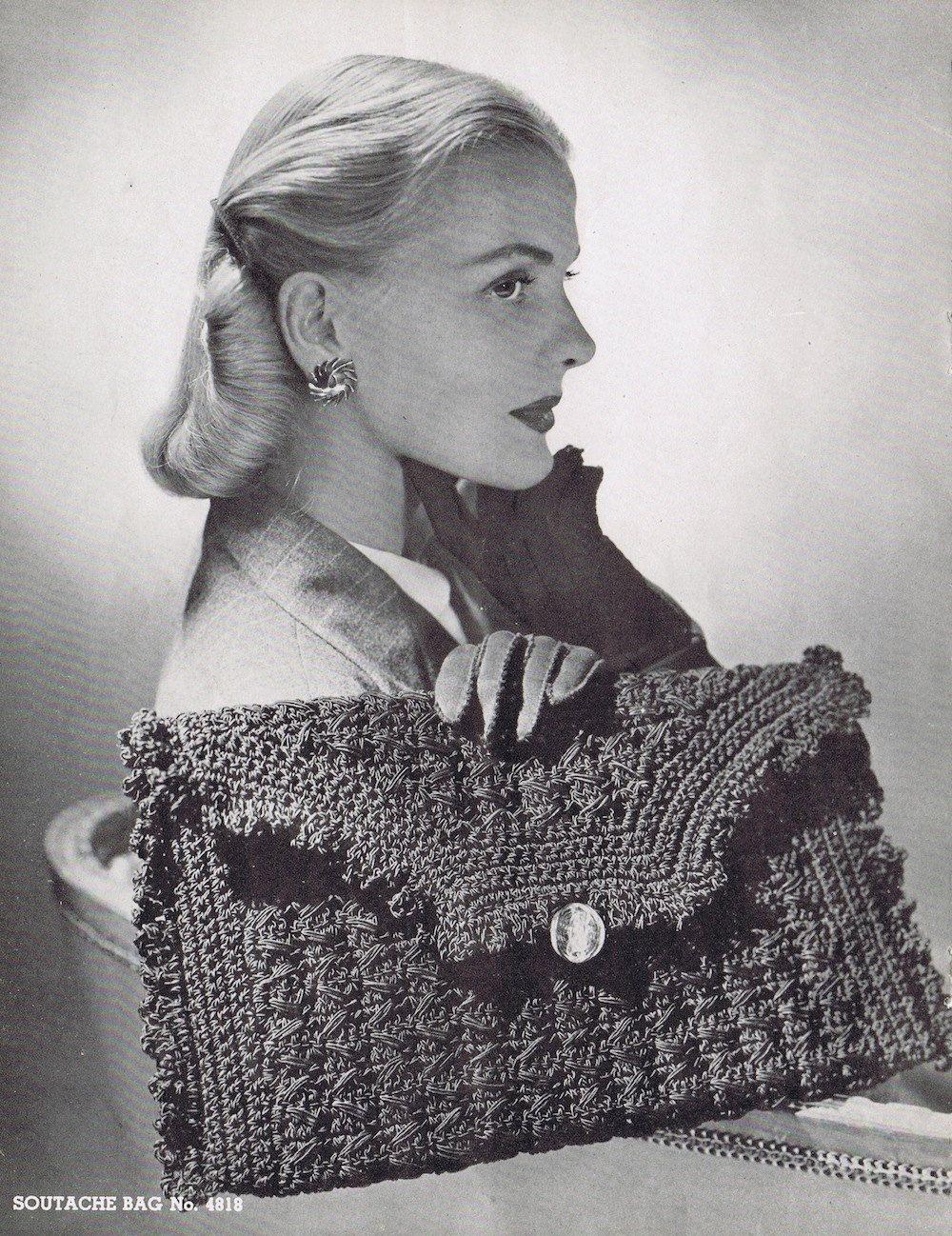 Crochet Clutch Vintage Crochet Pattern PDF, c 1944   Crochet e Tricô ...