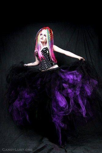 Dark Purple Black Formal Trashy Prom Wedding Tulle Skirt Adult Medium   MTcoffinz - Clothing on ArtFire