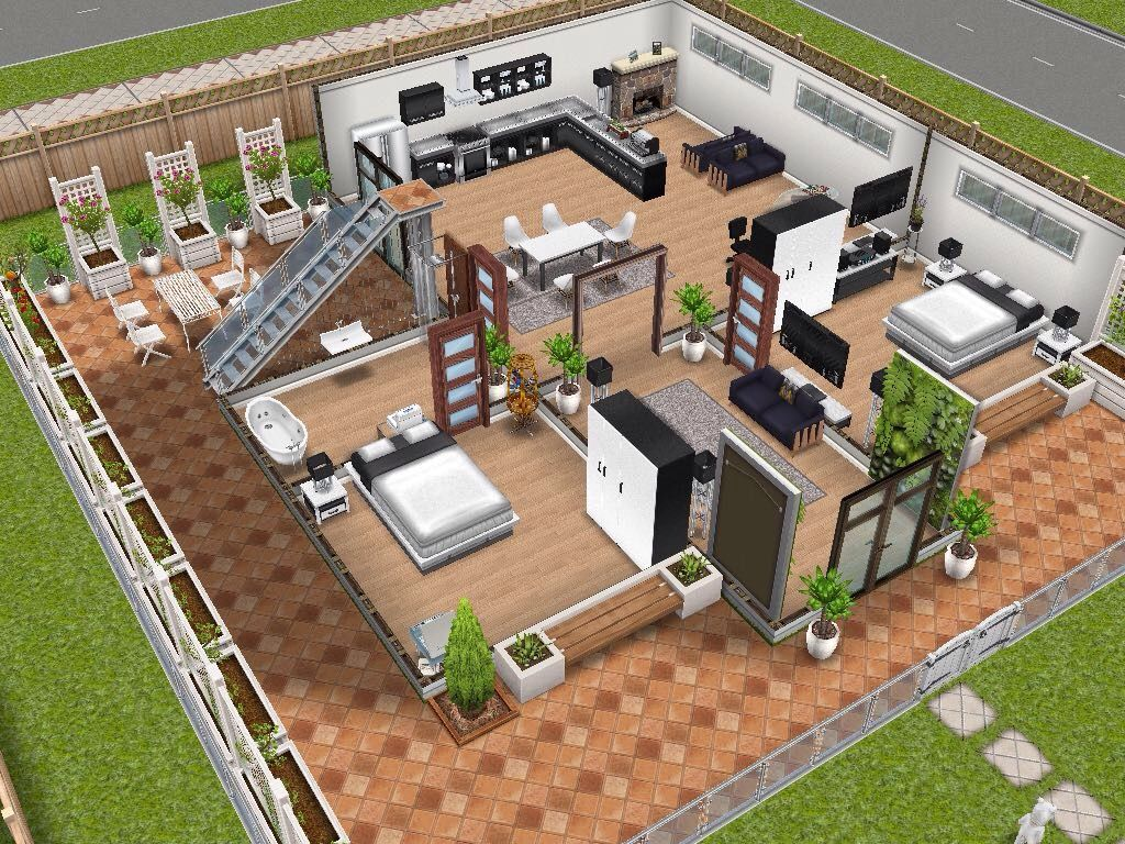 House 13 ground level #sims #simsfreeplay #simshousedesign