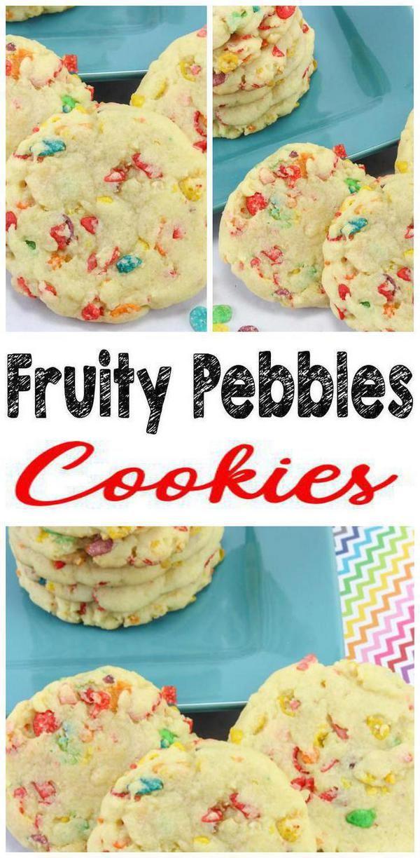 Cereal Cookies! EASY Fruity Pebbles Cookie Recipe – Simple Desserts – Breakfast – Kids Parties