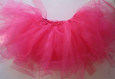 home-made no sew tutu; Halloween or just dress up perhaps?
