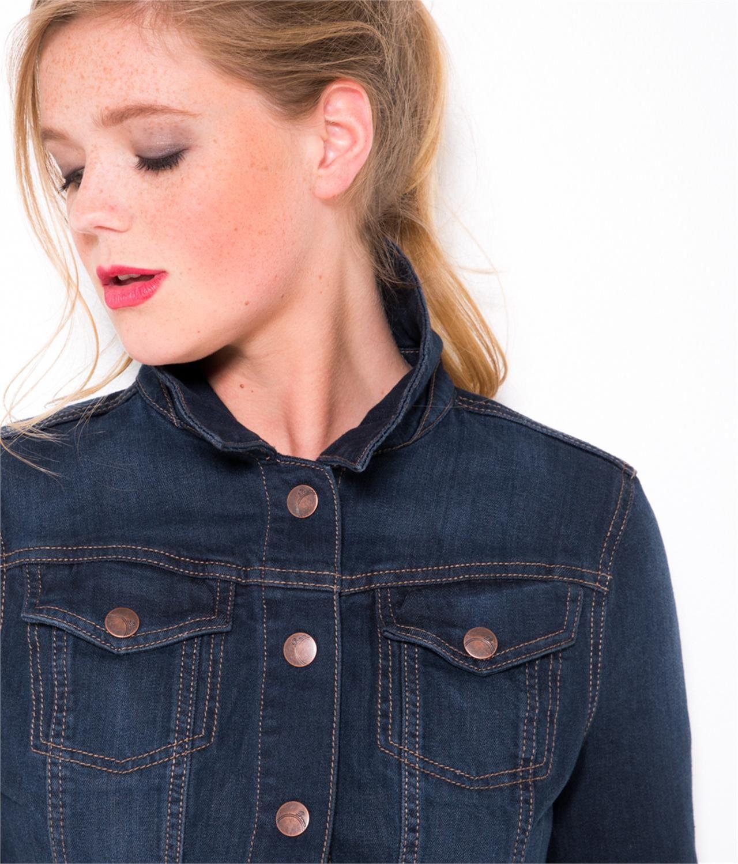 Veste en jean sans manche femme camaieu