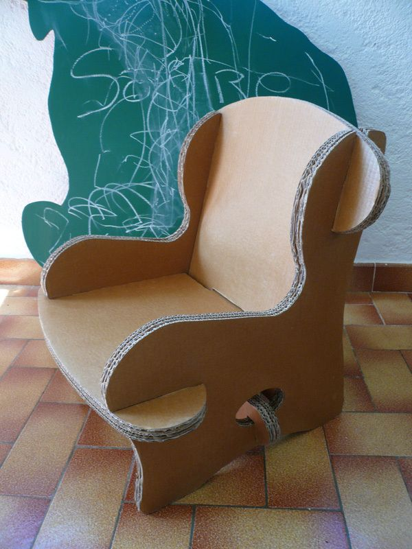 fauteuil enfant d montable grade 8 diy cardboard. Black Bedroom Furniture Sets. Home Design Ideas