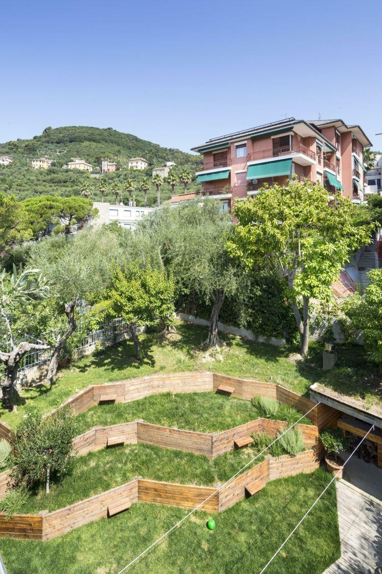 Terrassen Als Landschaftsbau Für Einen Ehemaligen Hang