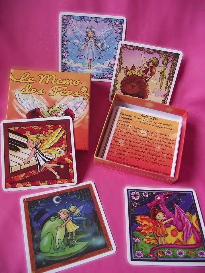 Le Memo des Fées. Un Memory sur le thème des fées magnifiquement illustré par Art'Stis et Loupclier. A partir de 3 ans. Un jeu de société Sandra Moreira Editions