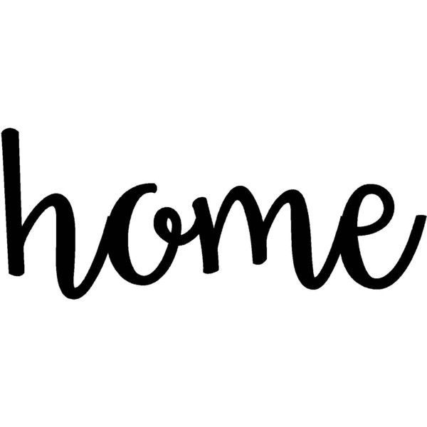 Home Sign Metal Home Sign Rustic Word Art Sign Housewarming Gift ...