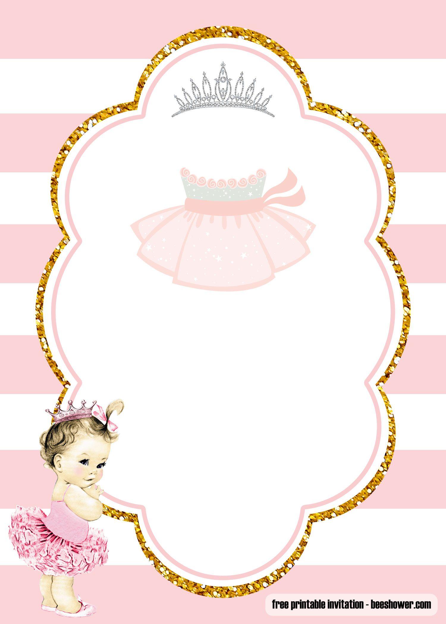 Free Ballerina Baby Shower Invitations Templates Ballerina Baby Shower Invitations Baby Shower Invitation Templates Ballerina Baby Showers