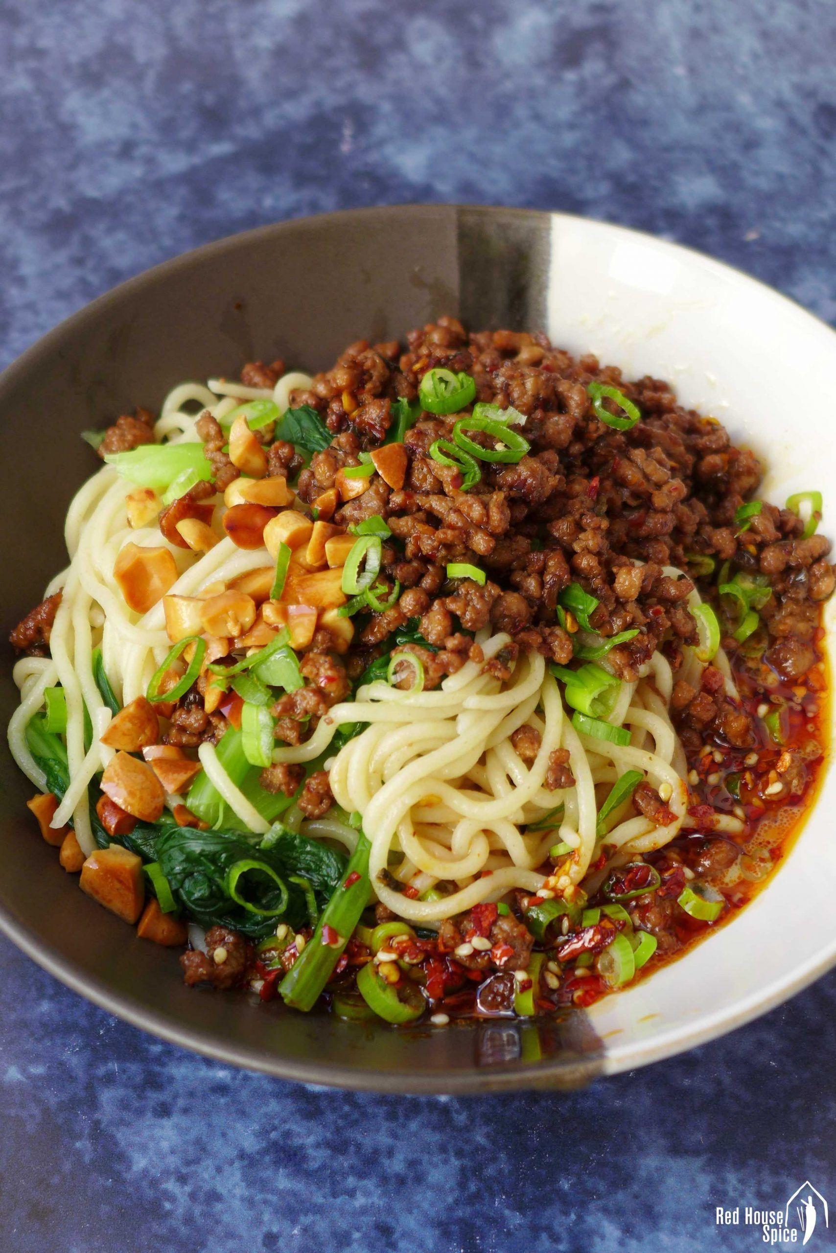 Dan dan noodles spicy sichuan noodles 担担面 recipe in