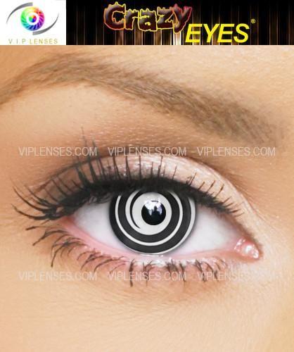 Crazy Black Spiral Contact Lenses Vip Lenses Special Effect Contact Lenses Contact Lenses Colored Halloween Contact Lenses