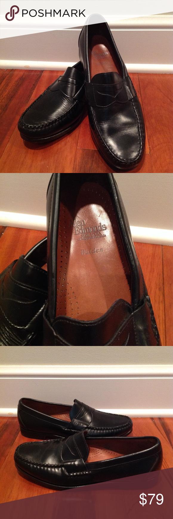 a0a13bd9970 Allen Edmonds  Walden  Black Penny Loafers 9.5 Beautiful Allen Edmonds  style. Classic black