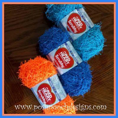 Super Scrubbie Crochet Pattern and Red Heart Scrubby Yarn