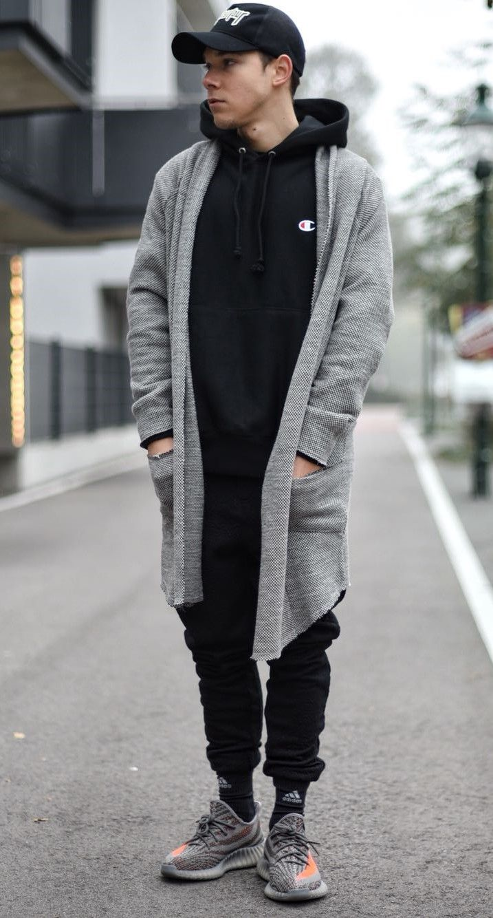 3598e4b3e184 Wearing a black hoodie by  champion