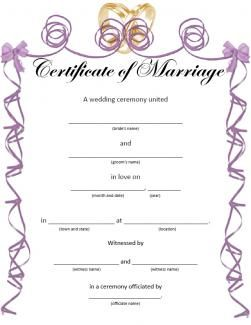 graphic about Printable Marriage Licenses titled Printable Marriage ceremony Certificates for Exciting Spots in the direction of Go to inside of