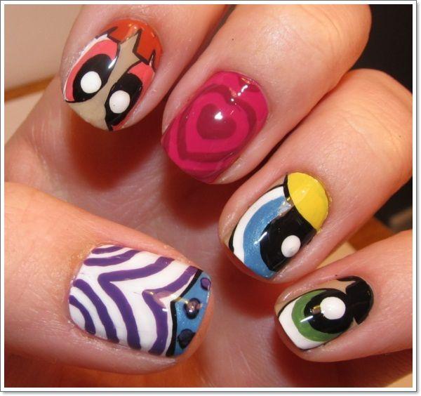 Cartoon Nails | Claws | Pinterest | Easy nail art