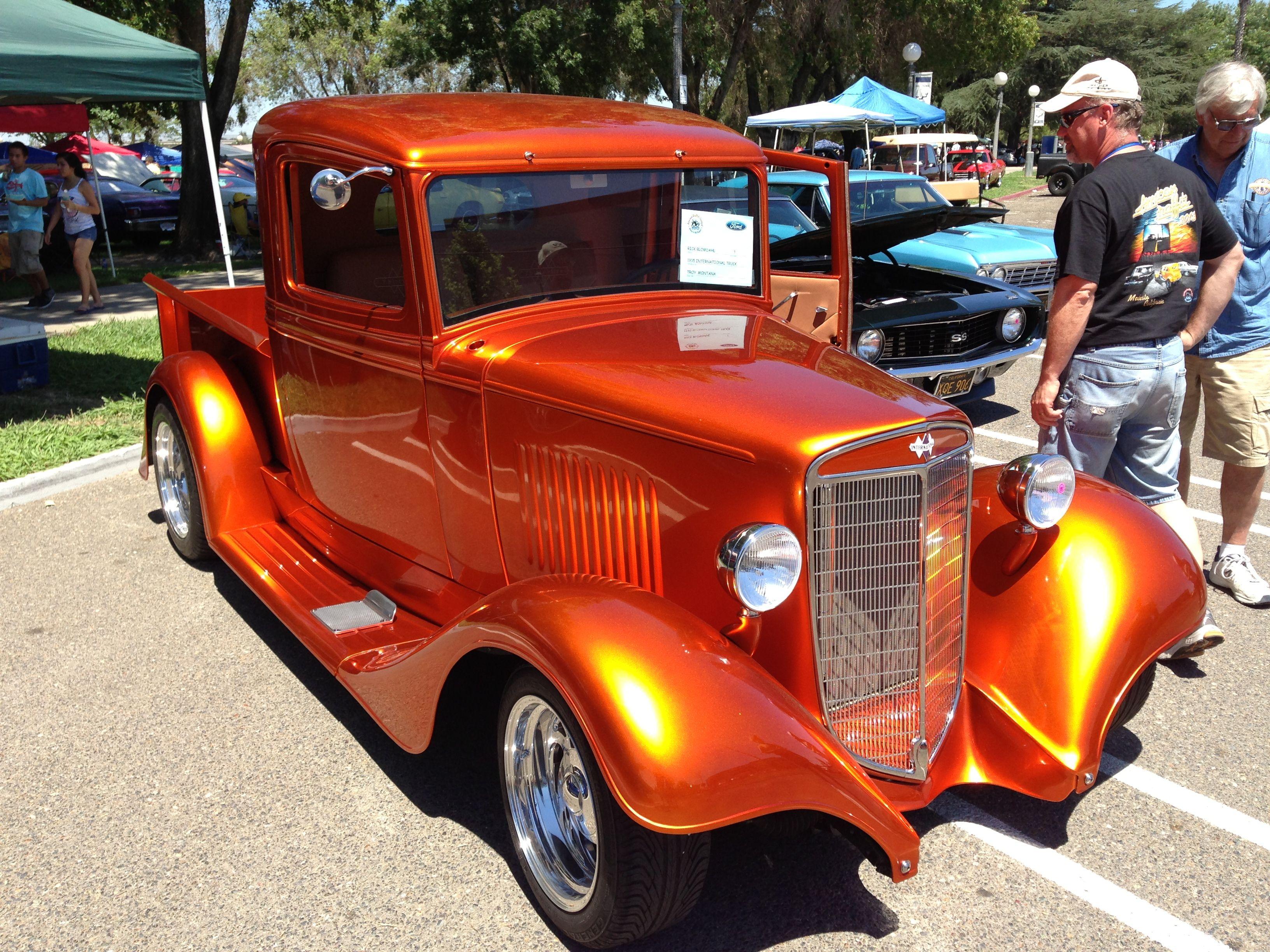 1935 International pickup. PPG orange glow paint over