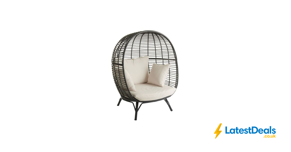 Wilko Garden Snuggle Egg Chair Rattan Effect 225 Egg Chair Chair Wilko