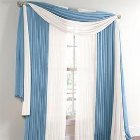BrylaneHome® Studio Sheer Voile Beaded Fringe Scarf U0026 Rod Pocket Panels |  Curtains U0026 Drapes