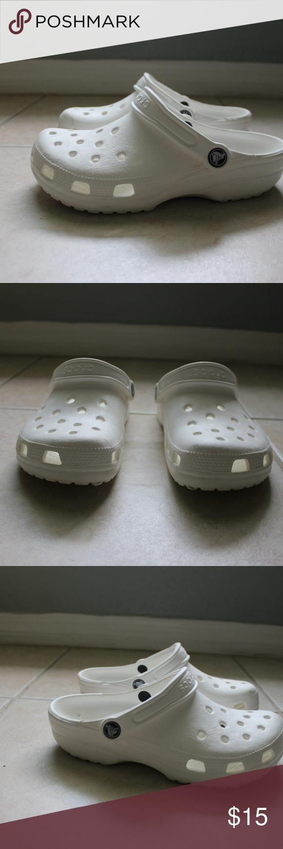 Crocs white classic women's size 7