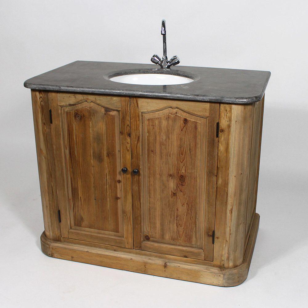 Meuble De Salle De Bain En Bois Recyclé 1 Vasque