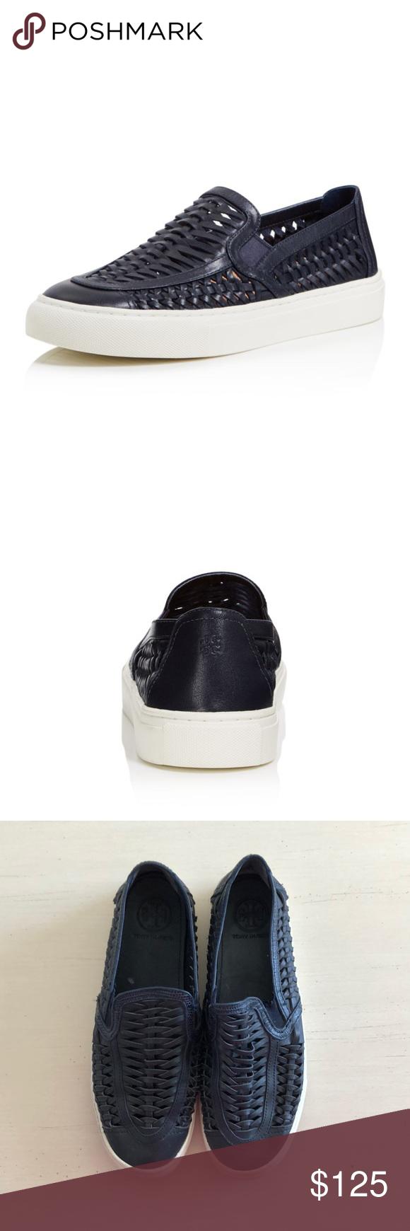428814812415 Tory Burch Navy Huarache 2 Slip-On Sneaker